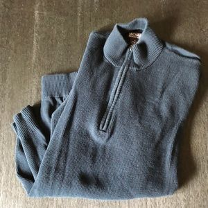 Mens Michael Kors Navy Blue quarter zip sweater